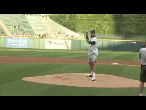0e26556cd151 Denzel Valentine throws out first pitch at White Sox game. NBC Sports  Chicago