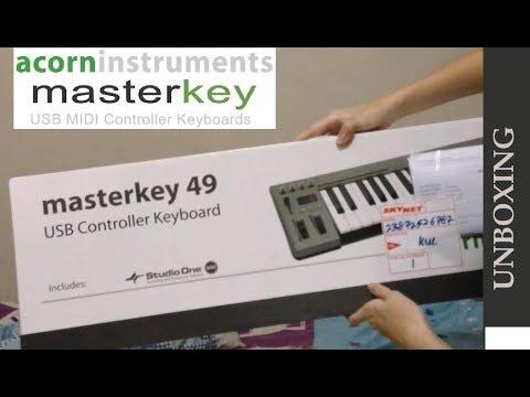 UNBOXING Acorn Instruments Masterkey 49 + Demo/testing
