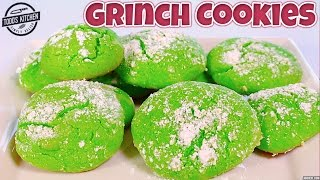 Grinch Cookies - Christmas Dessert Recipe