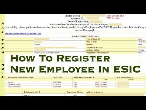 How To Register New Employee In ESIC || ESIC Pehchan Card Online Registration