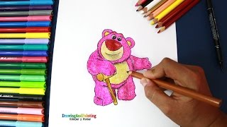 How to draw LOTSO (Disney's Toy Story) | Dibujando al oso Lotso (Toy Story)