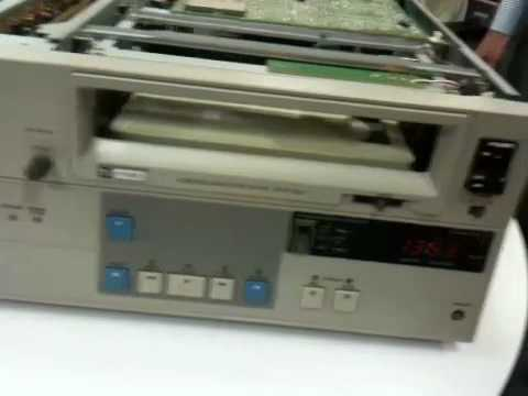 "Head cleaning a 3/4"" Utmatic Sony JVC VCR Beta SP Panasonic"