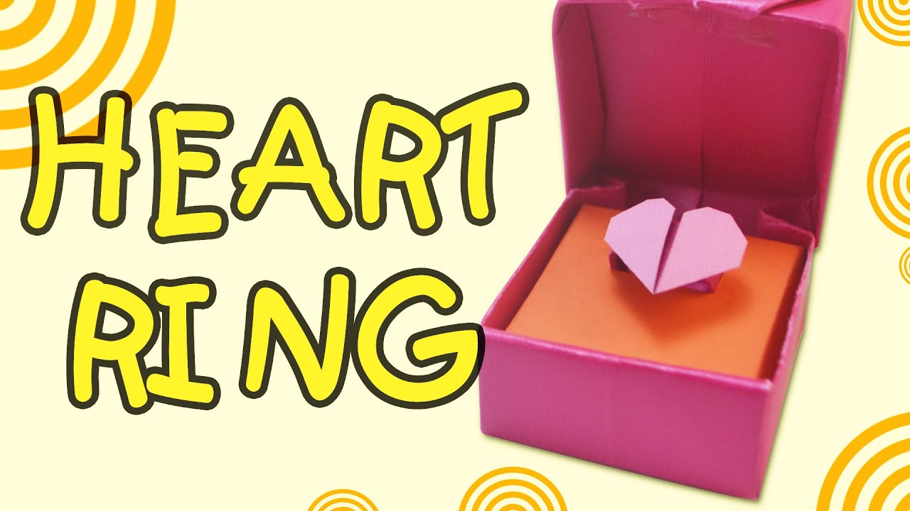 Valentine's day - How to make Origami heart ring easy ... - photo#30