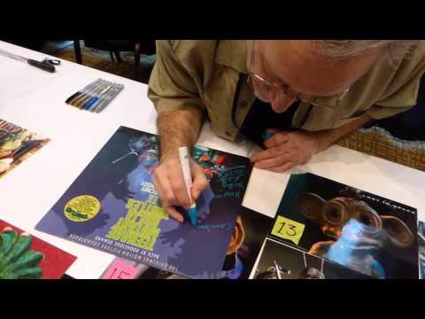 Michelan Sisti signing autographs, TMNT movies, Michelangelo