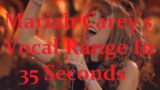 Mariah Carey: Unharmonized Studio Vocal Range [B♭2 - G7] - In 35 Seconds!
