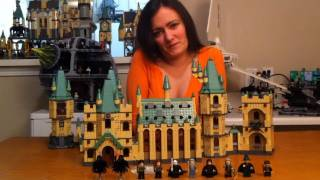 LEGO Harry Potter 4842 Hogwarts Castle Review & How to Connect LEGO 4867 Battle for Hogwarts