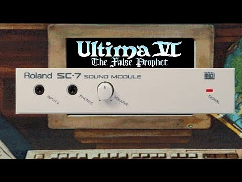 Ultima VI: The False Prophet Complete Soundtrack on MIDI (Custom MIDI.DAT for Roland SC-7) @720p50