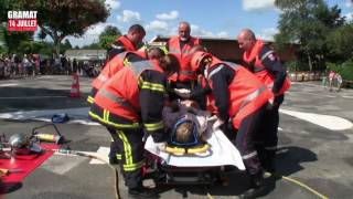 Gramat 14 Juillet avec les Pompiers -  2017