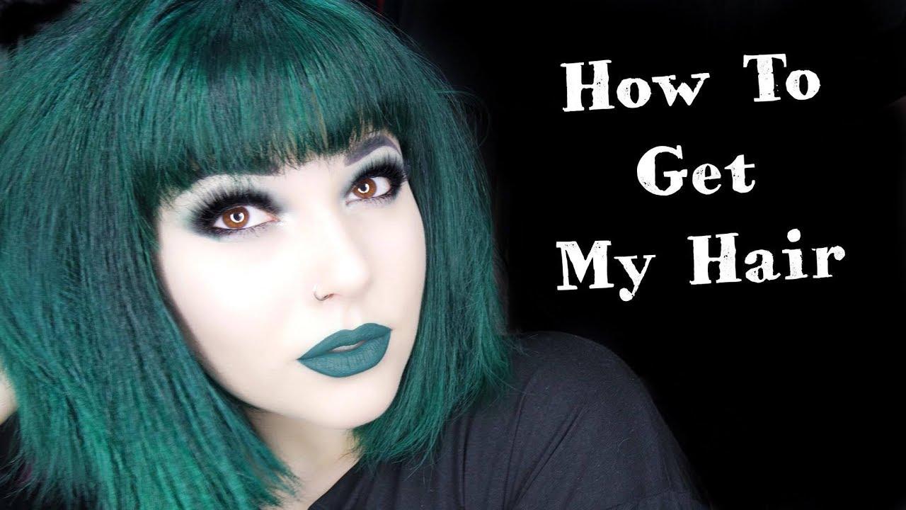 My Dark Green Hair Routine Youtube