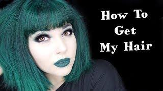My DARK GREEN Hair Routine
