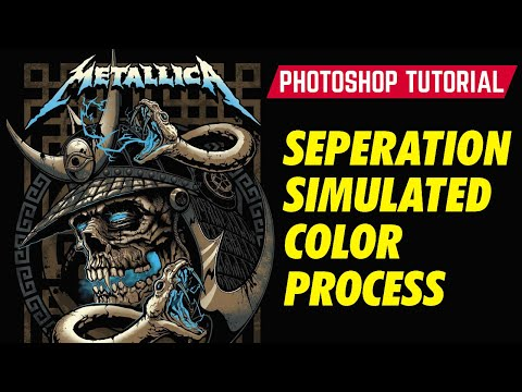Photoshop Tutorial Vol. 1 : How To Separate Color  for Simulated Color Process Screen Printing.