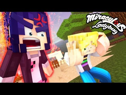 Marinette and Adrien FIGHT! ♥ Minecraft Miraculous Ladybug a