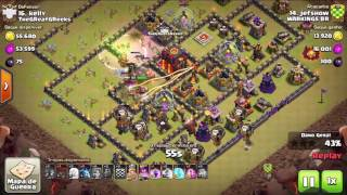 2 PTS CV10 (Aéreo e Full Mineiros) GUERRA TOP - Clash of Clans -