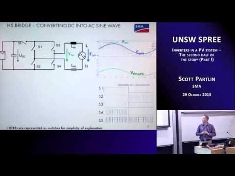 UNSWSPREE 201509-29 Scott Partlin - Inverters in a PV system - The second half of the story (Part I)