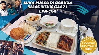 Berbuka Puasa di Garuda Indonesia GA571 Business Class BPN-CGK + Samarinda VLOG