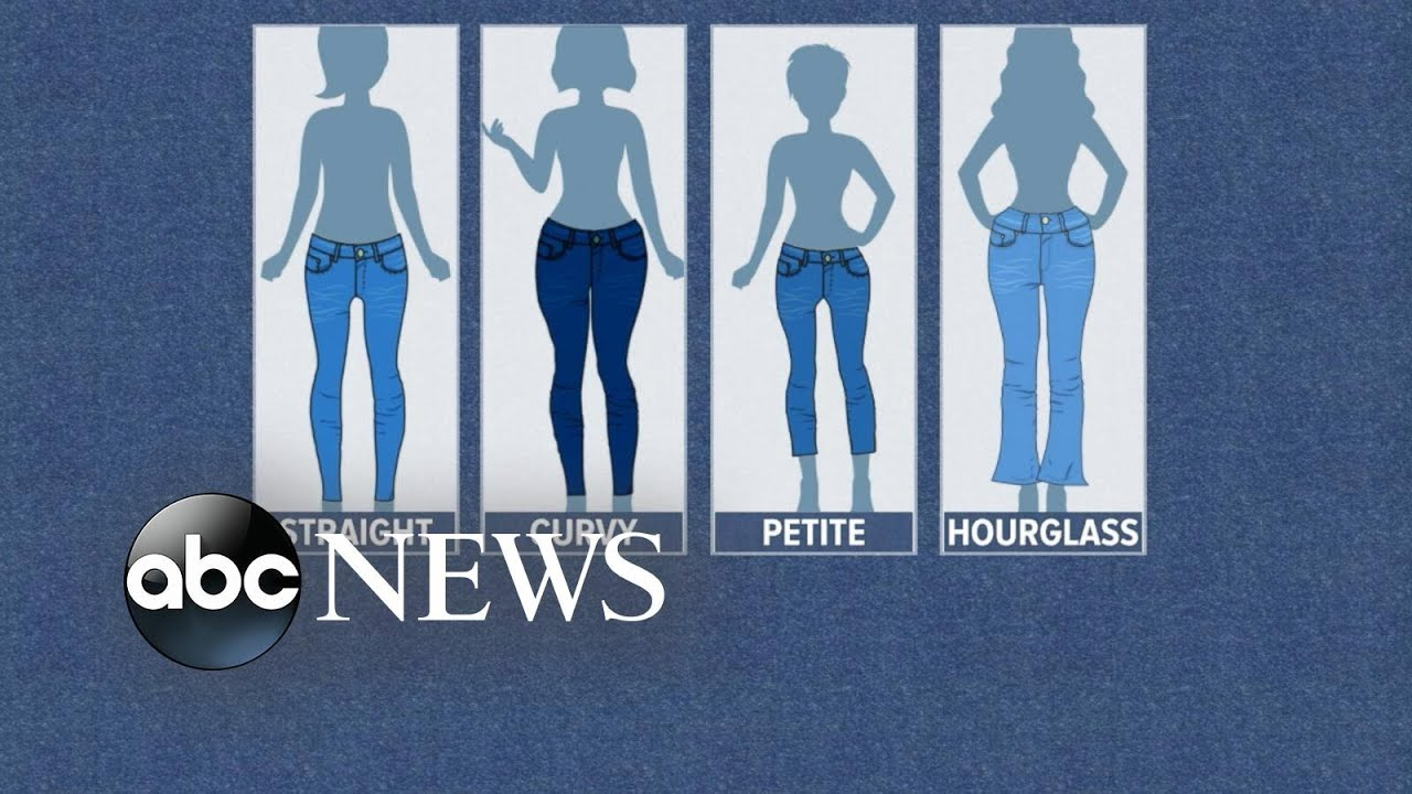 cb3d71fd649 How to pick the best jeans for your body shape - YouTube