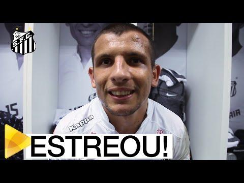Emiliano Vecchio estreia com a camisa do Santos