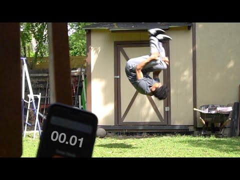 Learning how to backflip in under 31 minuets!