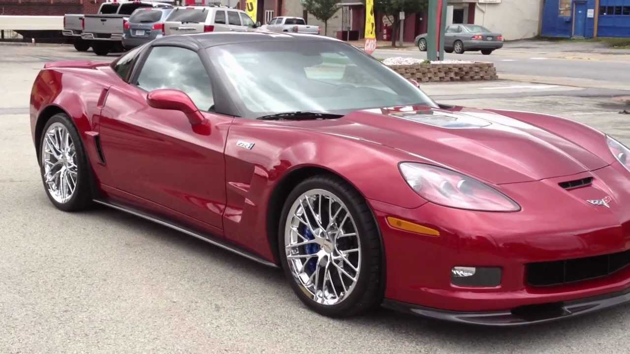 Z06 Corvette For Sale >> 2010 ZR1 Crystal Red 3ZR, 2500 Miles 1 Owner! For sale at www.corvetteauto.com - YouTube