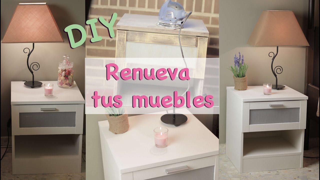 DIY renueva tus mesitas de noche - YouTube