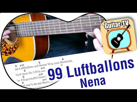 99 Luftballons - NENA, Cover • Lyrics • Chords • Tutorial • Gitarre lernen