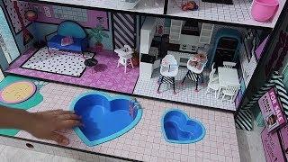 Yine Annemden Gizli LOL Evi Eşyalarını Açtım! Bu Sefer Havuzu Doldurdum!! Bidünya Oyuncak