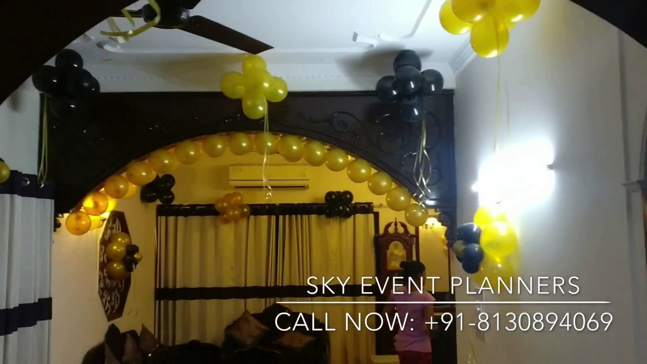 Surprise Balloon Decoration for anniversary Party at Home | Janak ...