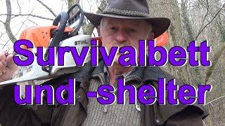 Survivalbett und -shelter