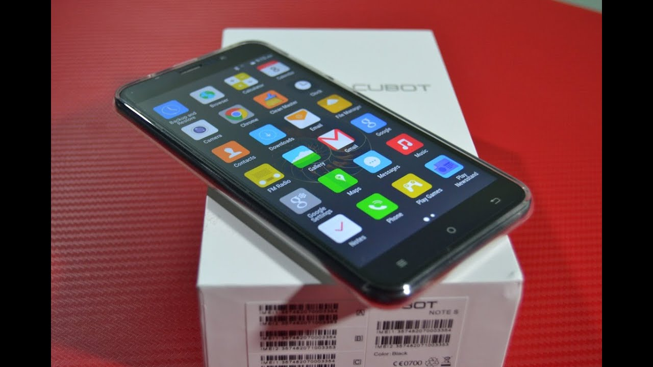 cubot note s фото