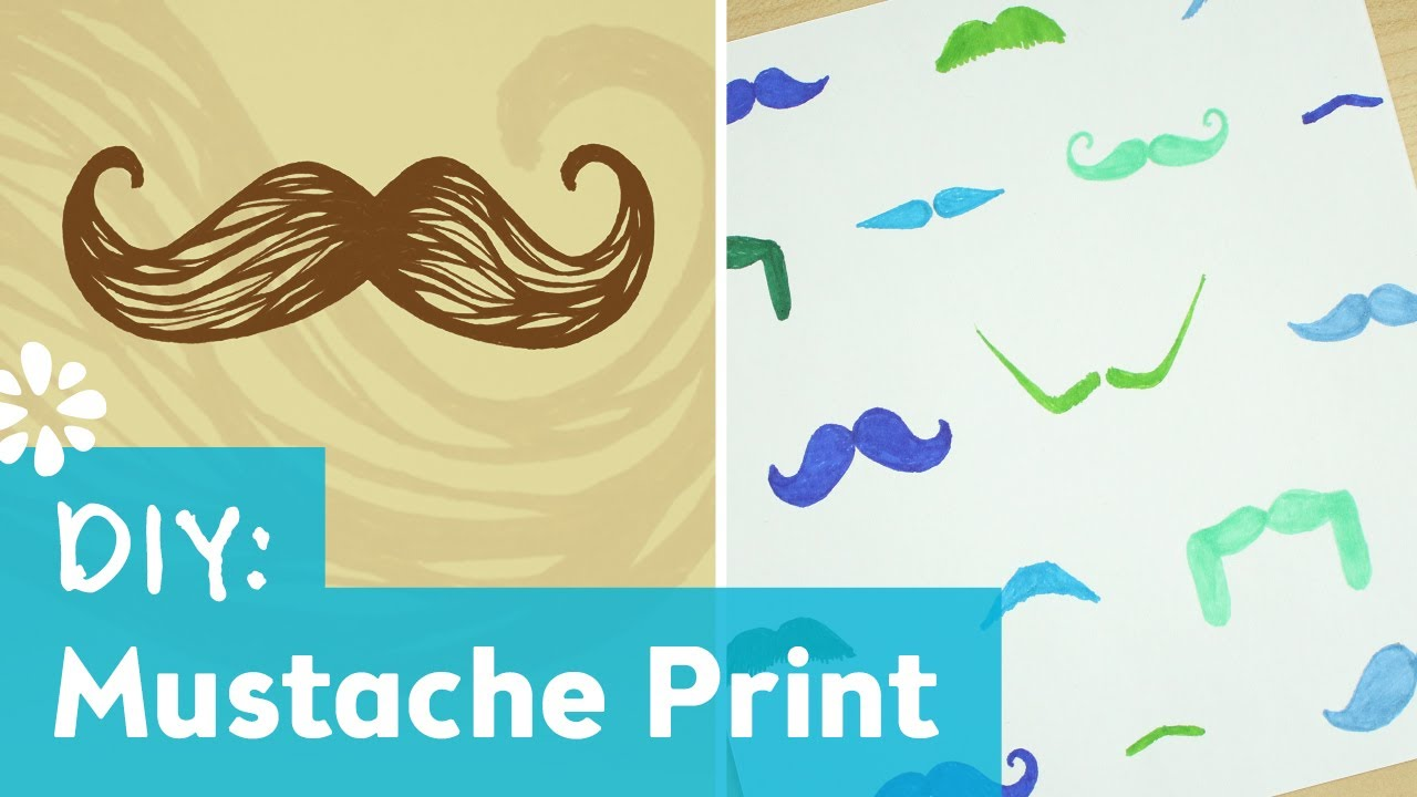 How to Make a Mustache Print Pattern - YouTube