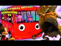 Wheels on the bus | Mickey Mouse |Educational nursery rhymes| with Life Lessons