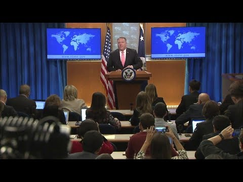 Secretary Pompeo Delivers Remarks to the Press