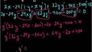 More implicit differentiation