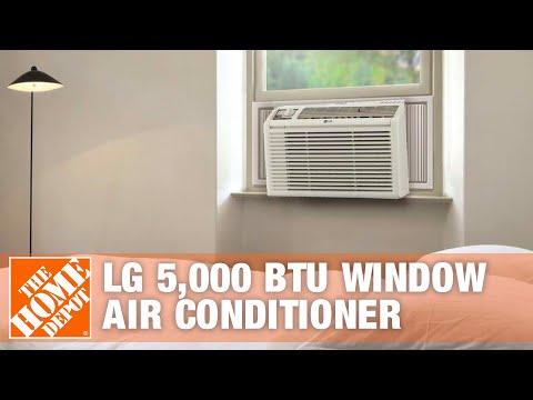 LG 5,000 BTU Window Air Conditioner | The Home Depot - YouTube