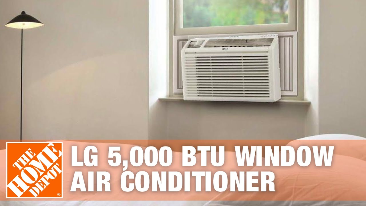LG 5 000 BTU Window Air Conditioner The Home Depot   #9B4B30