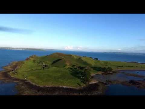 Drone Journey to Brown's Island Auckland