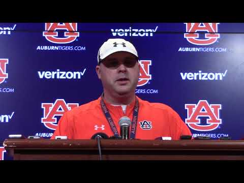 Auburn OC Chip Lindsey On Georgia Game, Offensive Improvement