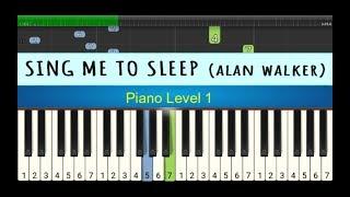not piano sing me to sleep - alan walker - tutorial piano level 1
