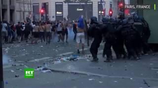 Violents incidents à Paris après la victoire des Bleus en finale face à la Croatie