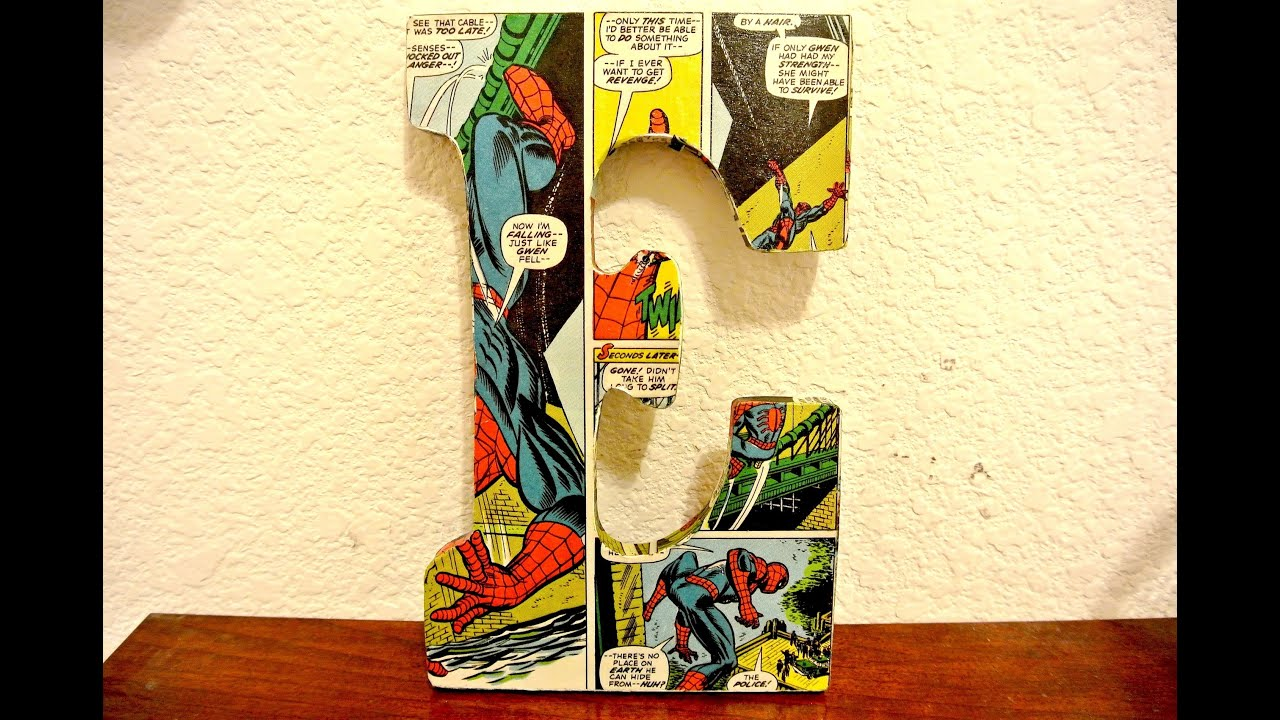 diy comic book desk. DIY Comic Letter Diy Book Desk