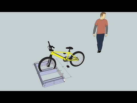 Build a bike rack plan using Sketchup