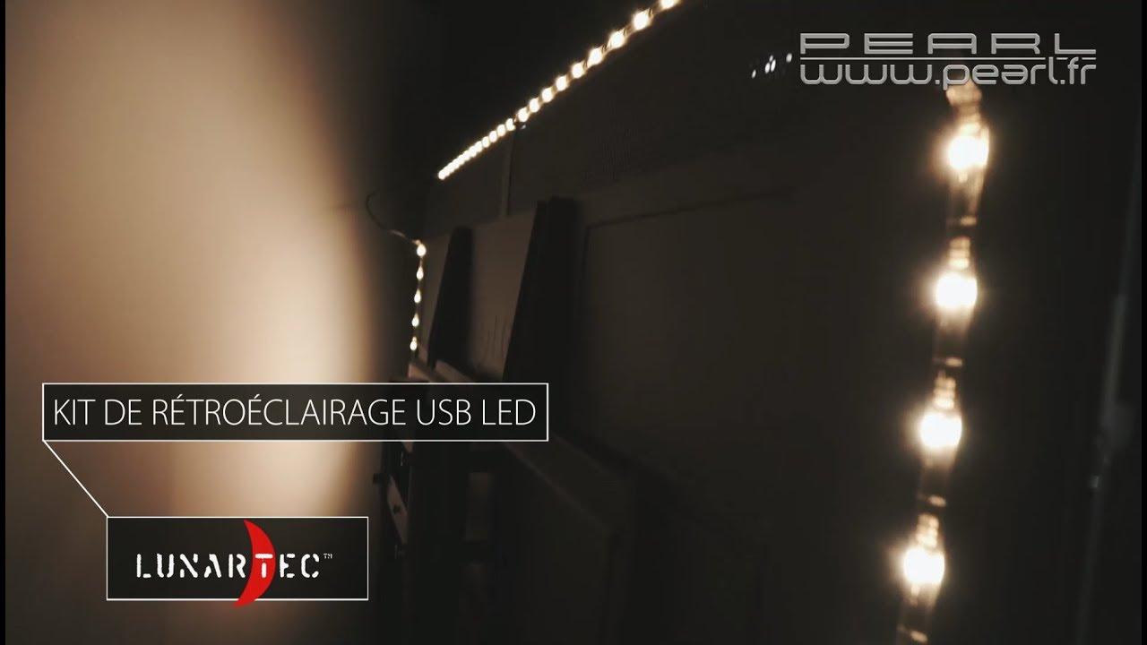 eclairage led pour tv ou cran pc blanc chaud ou multicolore rvb pearltv fr youtube. Black Bedroom Furniture Sets. Home Design Ideas