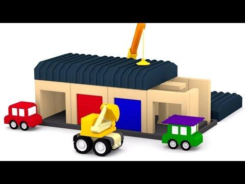 Мультфильмы про машинки. 4 машинки и ГАРАЖ. 3D мультики для самых маленьких