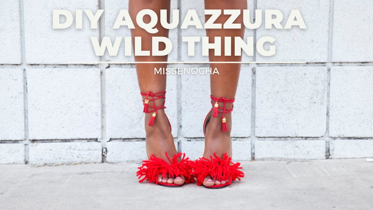 Diy Aquazzura Wild Thing Heels Youtube