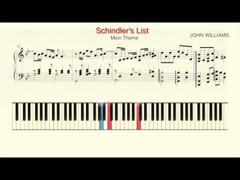 """How To Play Piano: """"Schindlers List""""   Main Theme Piano Tutorial by Ramin Yousefi"""