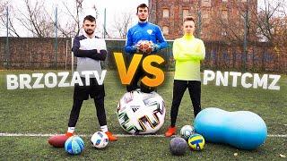 PNTCMZ VS BrzozaTV!! Pojedynek różnymi piłkami!!