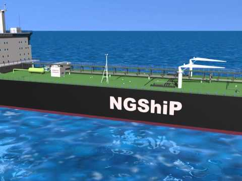 [RENDERING] Natural gas and fuel cells for more eco-friendly  vessels