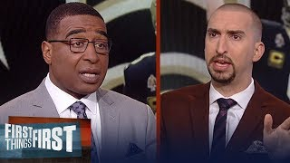 Nick Wright disagrees with the NFL reviewing pass interference calls | NFL | FIRST THINGS FIRST