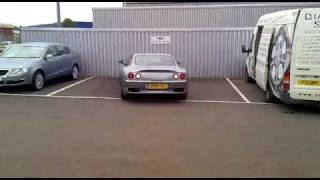 just a start up of a ferrari 550 at a local Bentley garage.