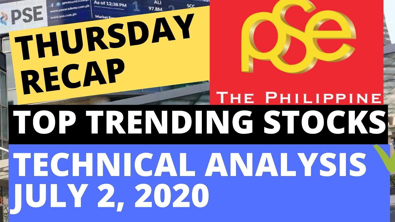 TOP TRENDING STOCKS IN PSE: THURSDAY RECAP | TECHNICAL ANALYSIS |  JULY 2, 2020